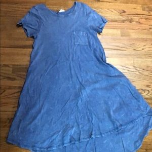 Lularoe medium Carly. Blue acid wash.